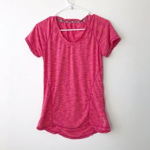 Reebok Coral Pink  dry fit Athletic Tee Size S